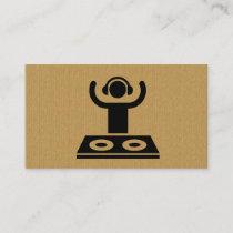 A cool cardboard DJ logo business card