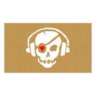 A cool cardboard DJ Skull Icon business card