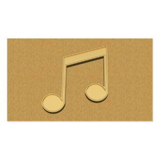 A cool cardboard music note icon business card