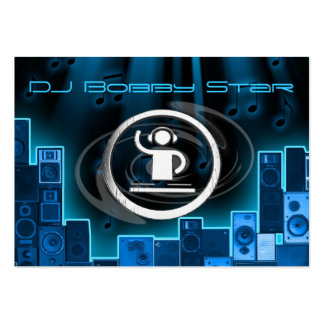 A cool DJ blue laser business card. Large Business Card