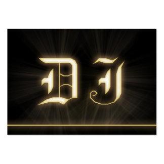 A cool DJ gold laser ligt business card