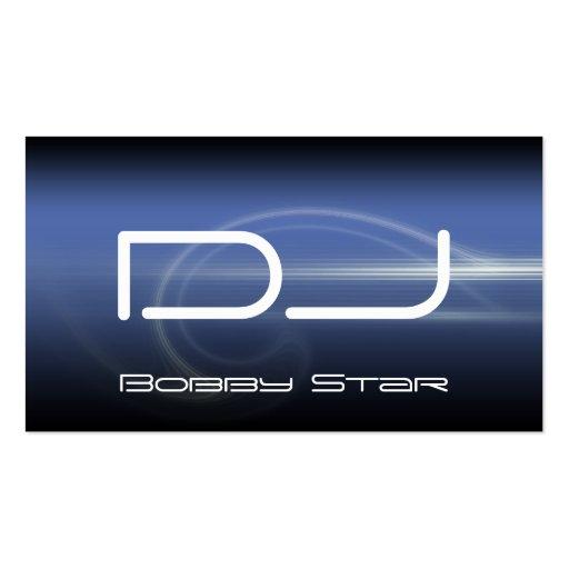 A cool DJ modern blue laser business card