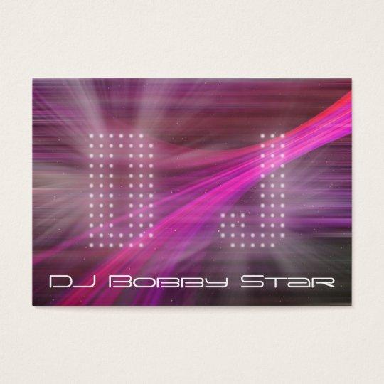 A cool DJ pink laser light business card