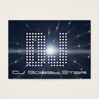 A cool DJ spacewarp business card