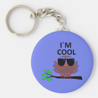 A Cool Dude's Wise Owl Basic Round Button Keychain