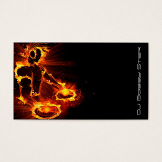 A cool Flaming DJ on Fire business card
