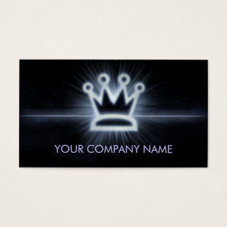 A cool glowing crown space business card