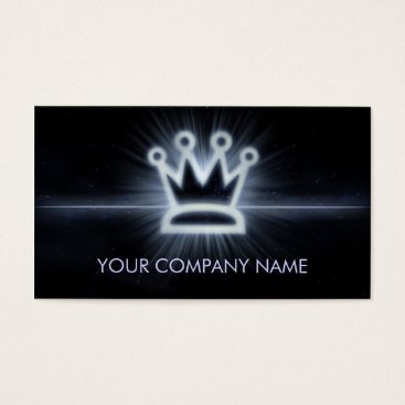 Professional Business A cool glowing crown space business card