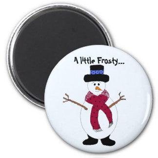 A Cool Little Snowman Magnet