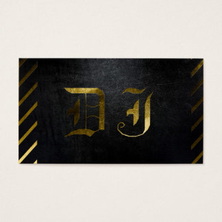 A cool matte black and gold DJ business card