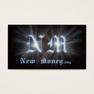 A cool New Money NM initials business card