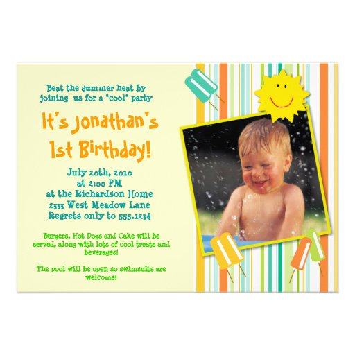 A 'Cool' Party! Personalized Invitations