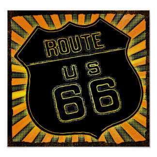 A Cool Route 66 Sign Poster 4 Boys or Girls