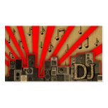 A cool vintage cardboard DJ icon business card