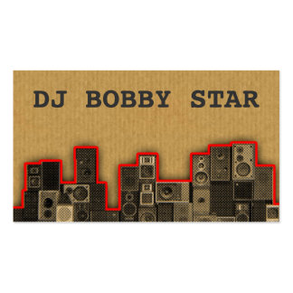 A cool vintage cardboard DJ icon business card