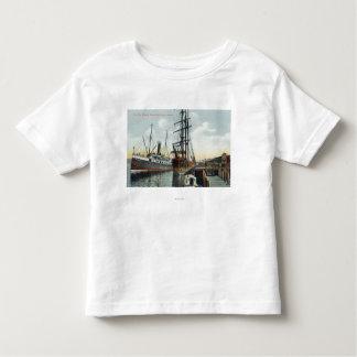 A Coos Bay Shipping Scene at Dock Shirts