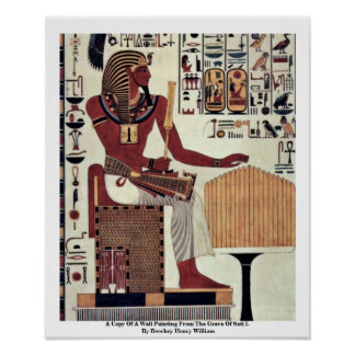 A Copy Of A Wall Painting From The Grave Of Seti Poster