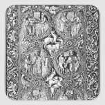 A copy of  ivory back Queen Melisende's Psalter Square Sticker