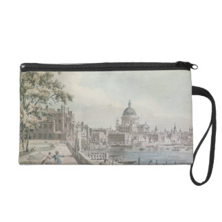 A copy of part of a drawing by Canaletto, of St. P Wristlet Clutch