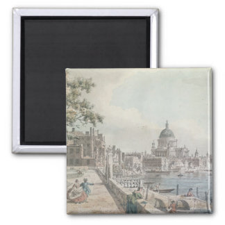 A copy of part of a drawing by Canaletto, of St. P Magnet