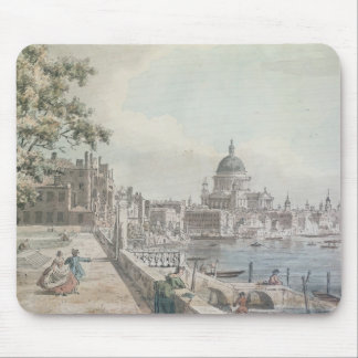 A copy of part of a drawing by Canaletto, of St. P Mouse Pad