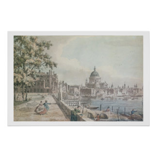A copy of part of a drawing by Canaletto, of St. P Poster