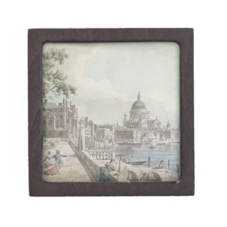 A copy of part of a drawing by Canaletto, of St. P Premium Jewelry Boxes