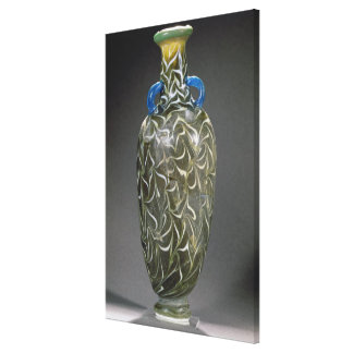 A core-formed amphora with wave motifs, 19th-20th canvas print