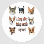 A Corgi a Day Brings a Smile 7 Classic Round Sticker