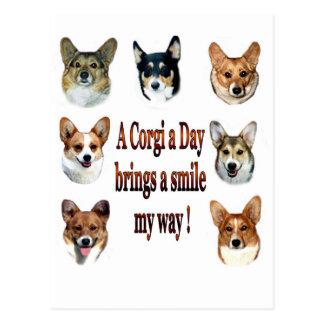 A Corgi a Day Brings a Smile 7 Post Card