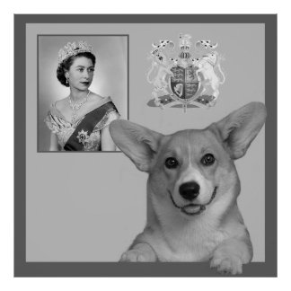 A corgi  and the House of Windsor Poster