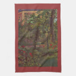 A corner in the garden of Bellevue by Manet Hand Towels