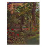 A corner in the garden of Bellevue by Manet Postcards