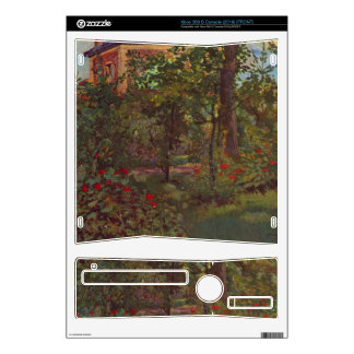 A corner in the garden of Bellevue by Manet Xbox 360 S Console Skin