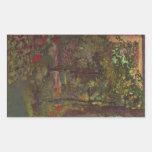 A corner in the garden of Bellevue by Manet Rectangular Stickers