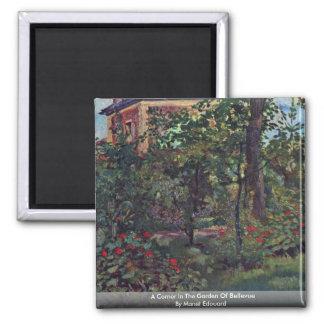 A Corner In The Garden Of Bellevue Magnet