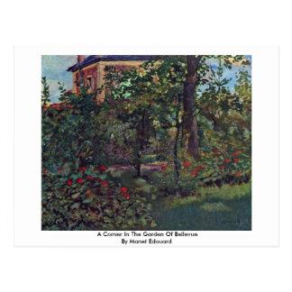 A Corner In The Garden Of Bellevue Postcard