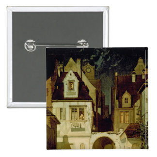 A Corner of a German Town by Moonlight Pinback Button