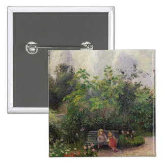A Corner of the Garden at the Hermitage Pinback Button