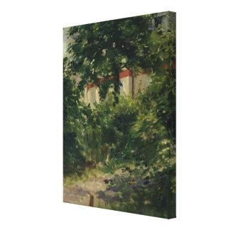 A Corner of the Garden in Rueil, 1882 Canvas Print