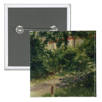 A Corner of the Garden in Rueil, 1882 Pinback Button