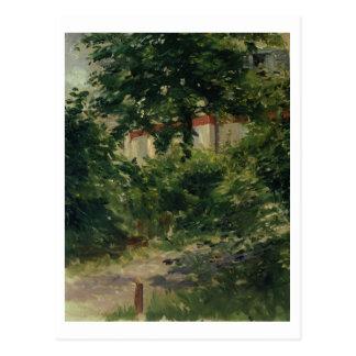 A Corner of the Garden in Rueil, 1882 Postcard