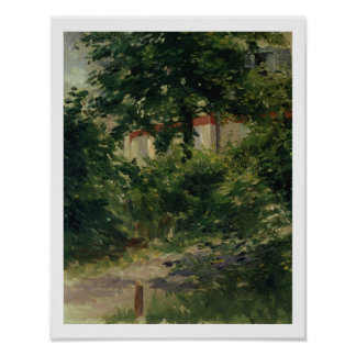 A Corner of the Garden in Rueil, 1882 Poster