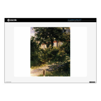 """A Corner of the Garden in Rueil by Edouard Manet Decals For 15"""" Laptops"""