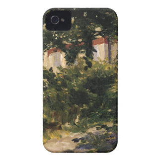 A Corner of the Garden in Rueil by Edouard Manet iPhone 4 Case-Mate Cases
