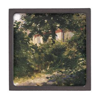 A Corner of the Garden in Rueil by Edouard Manet Keepsake Box