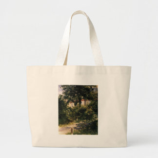 A Corner of the Garden in Rueil by Edouard Manet Large Tote Bag