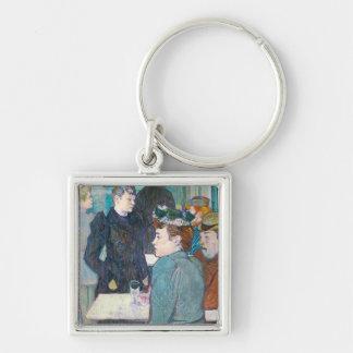 A Corner of the Moulin de la Galette, 1892 Silver-Colored Square Keychain