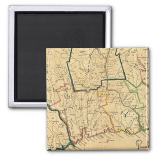 A Correct Map of Connecticut 2 Inch Square Magnet