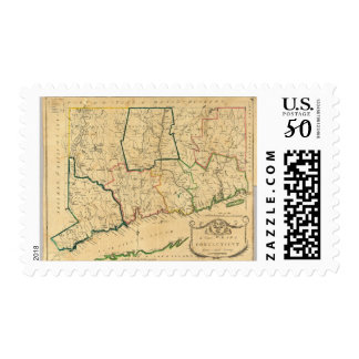 A Correct Map of Connecticut Postage